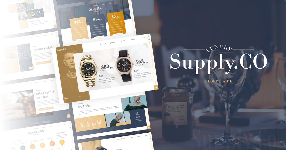Download Supply.Co – Luxury Marketplace Keynote Template by RRgraph