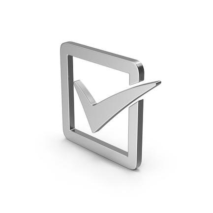 Symbol Check Box Silver