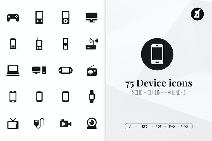 Thumbnail for 75 Device minimal icons