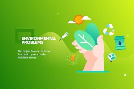 bannière écologique et page de destination