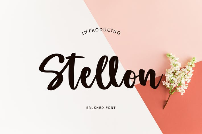 Stellon Brush Font