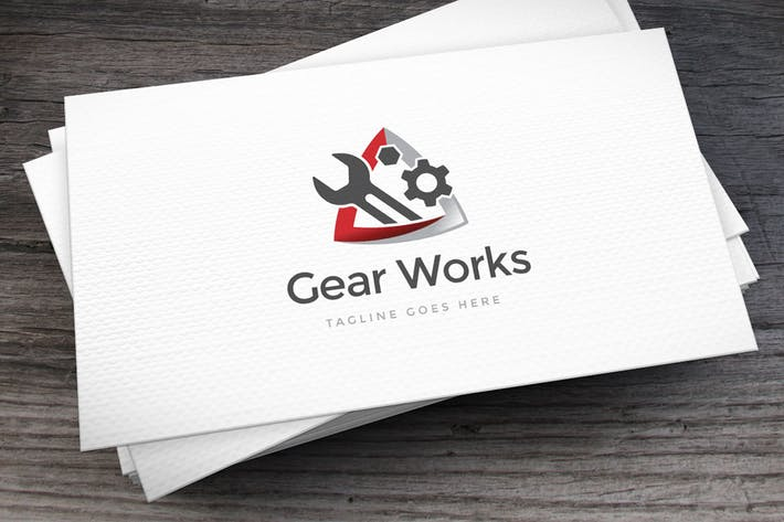 Thumbnail for Gear Works Logo Template