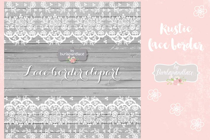 Thumbnail for Lace border rustic, grey wood vector