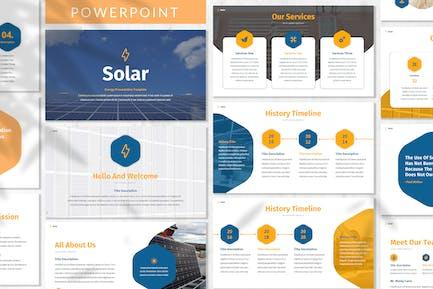 Plantilla Solar - Energía Powerpoint