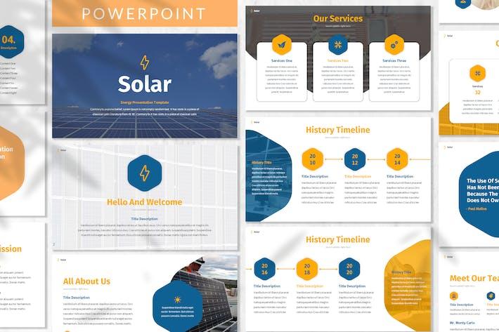 Thumbnail for Солнечная - Энергия Powerpoint Шаблон