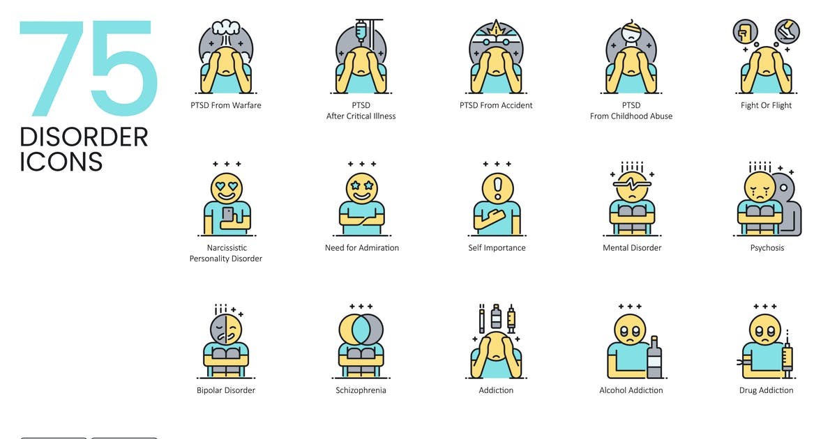 Download 75 Disorder Icons by Krafted