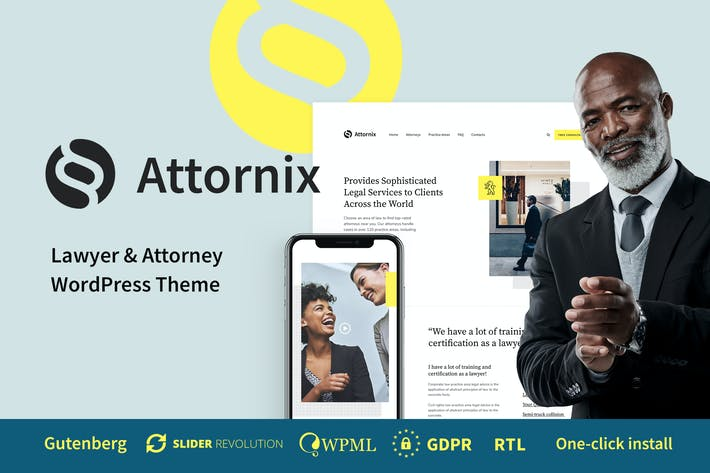 Thumbnail for Attornix - Lawyer WordPress Theme