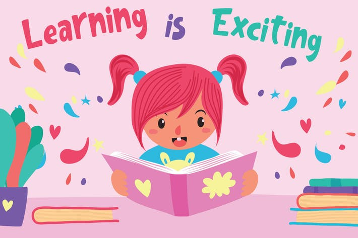 Thumbnail for Learning is Fun - Vector Illustration
