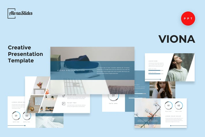 Thumbnail for Viona - Creative Powerpoint Presentation Template
