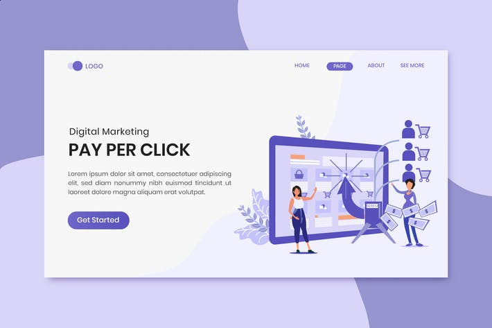 Pay Per Click Digital Marketing Landing Page