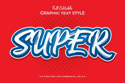Creative Super Editable Text Effect, Font Style