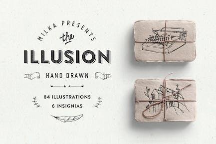 Illusion – hand drawn collection