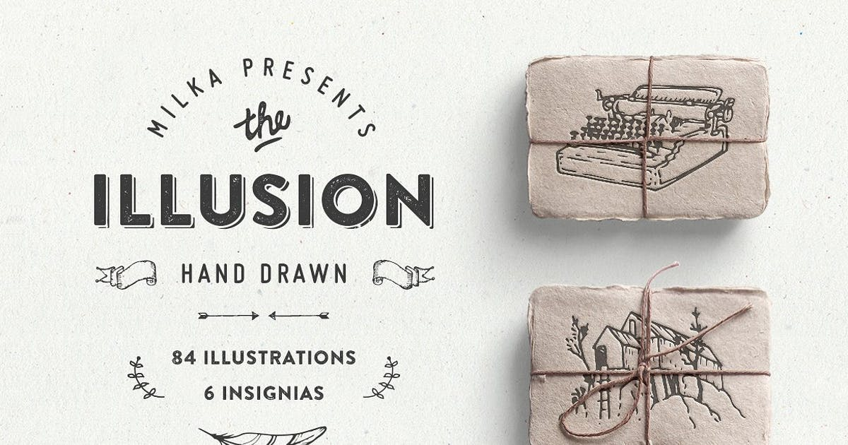 Download Illusion – hand drawn collection by Oxana-Milka