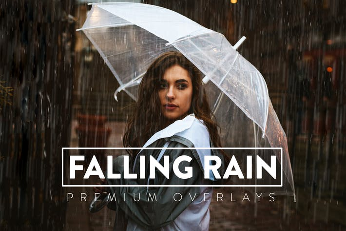 50 реалистичных дождевых Наложения