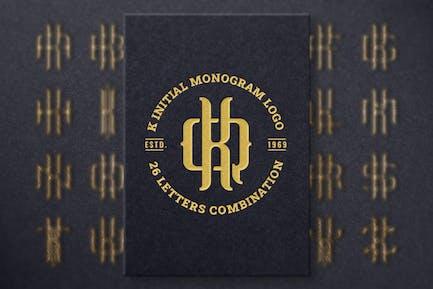 K (A-Z) Monogramm-Logo-Schöpfer-Paket