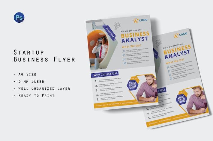 Startup Business Analyst Flyer