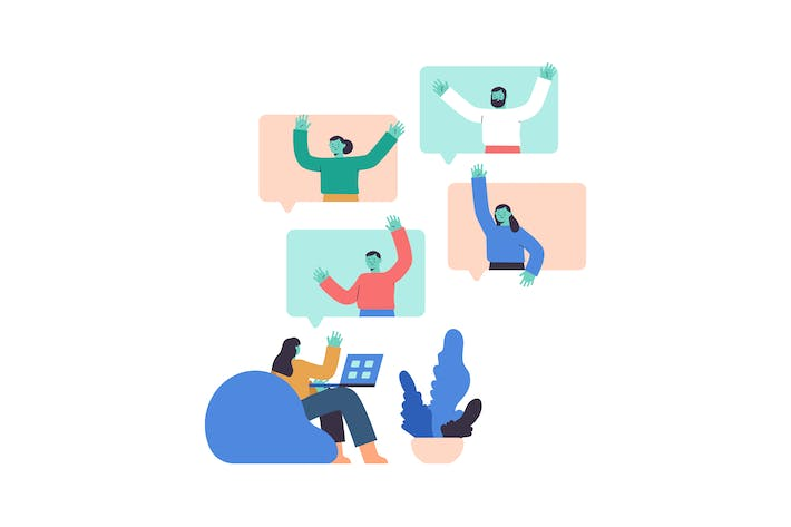 Thumbnail for Conference Call Flat Illustration