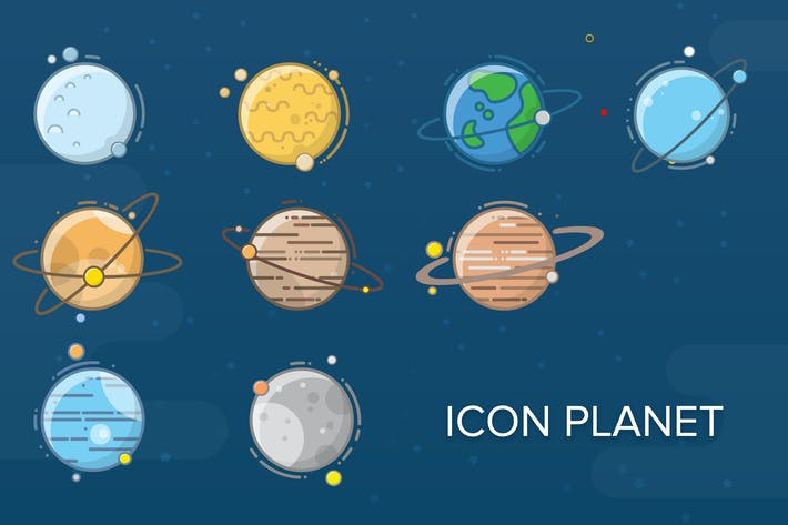 Thumbnail for Planet Flat Icon