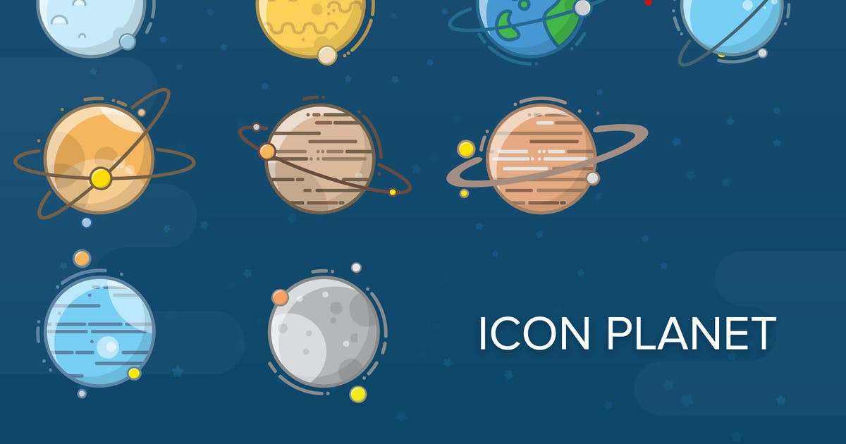Download Planet Flat Icon by vintagio
