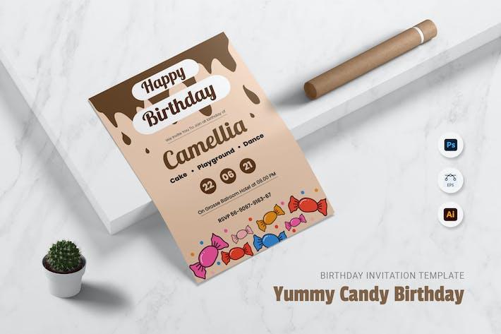 Thumbnail for Yummy Candy Birthday Invitation