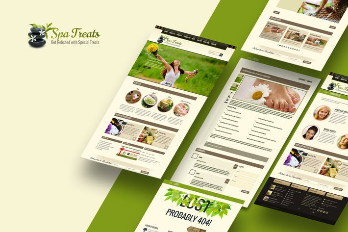 Thumbnail for Spa Treats - A Health / Spa Salon HTML Template