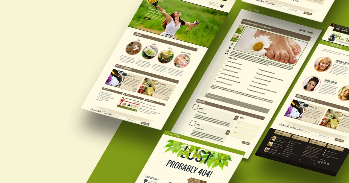 Download Spa Treats - A Health / Spa Salon HTML Template by designthemes