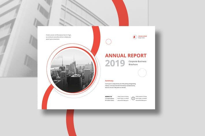 Thumbnail for Annual Report Landscape A4