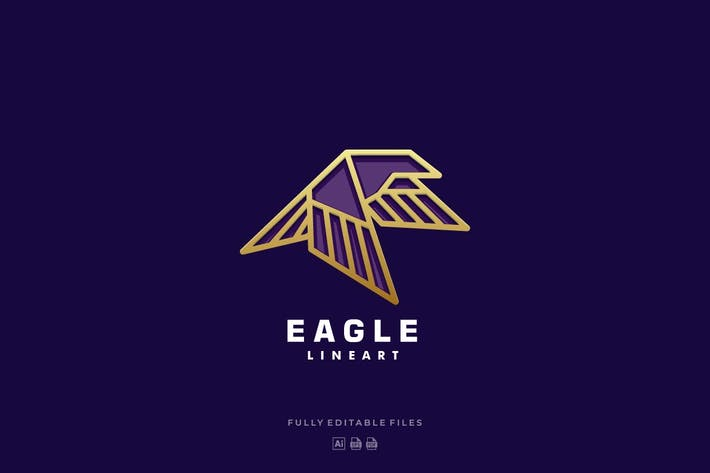 Thumbnail for Eagle Color Line Art Logo