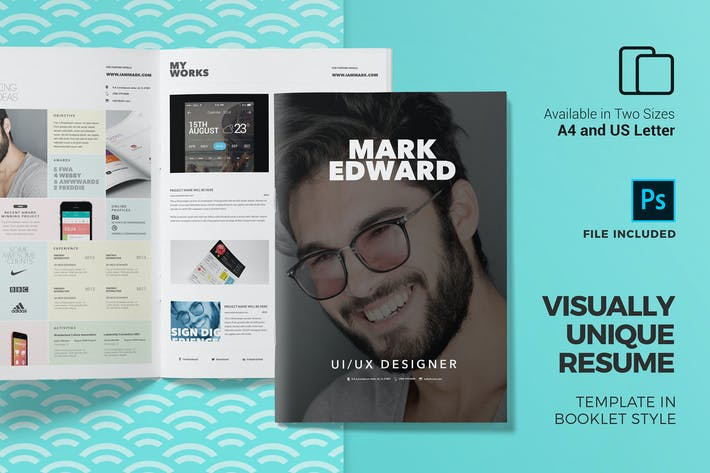 Cover Image For Booklet Resume Template