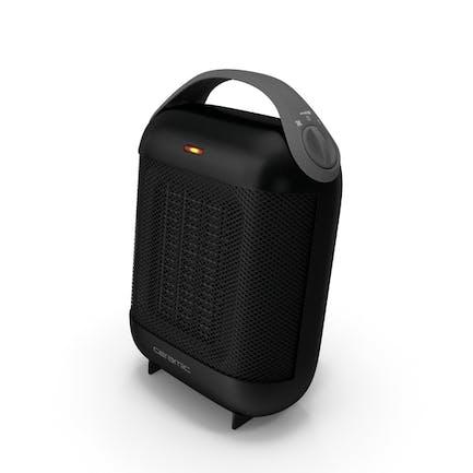 Компактный керамический нагреватель черный