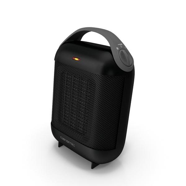 Calentador Cerámico Compacto Negro