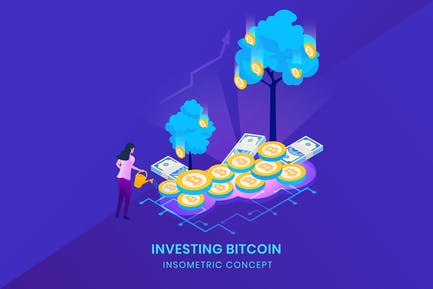 Investing Bitcoin - Insometric Vector