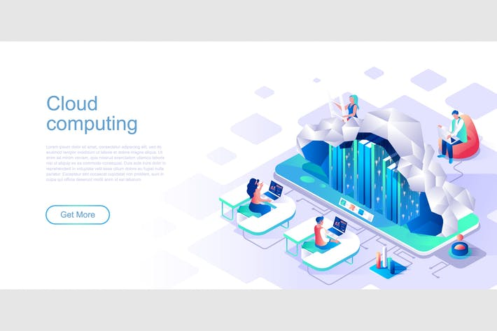 Thumbnail for Cloud Computing Isometric Flat Concept Header
