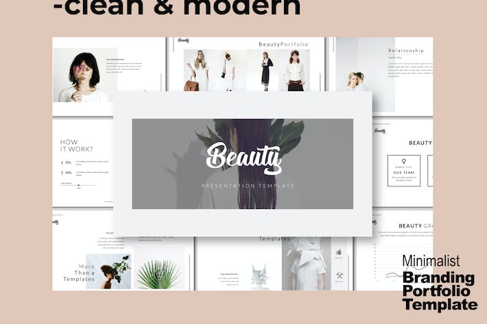 Thumbnail for Beauty Minimal Business Portfolio Template - LS