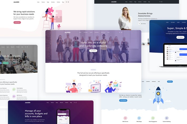 Thumbnail for Snowlake - Creative Business & Startup WordPress