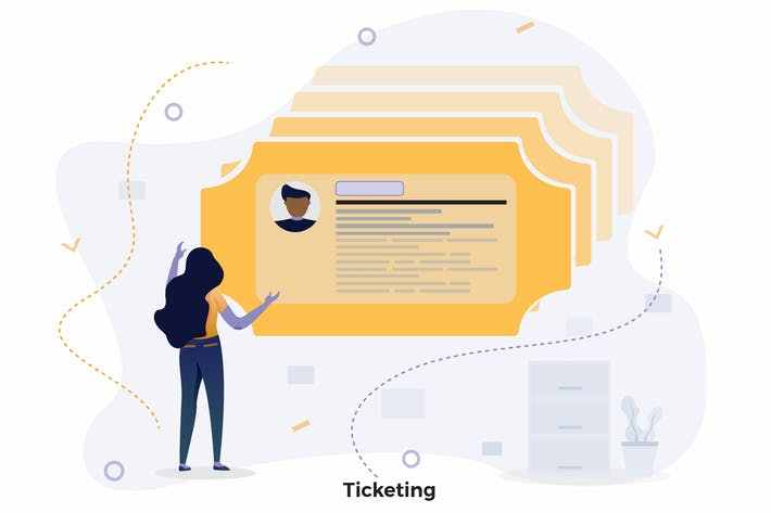 Thumbnail for Ticketing Illustrations CRM