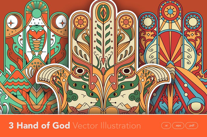 Thumbnail for Hand of God Vector Illustration Artwork