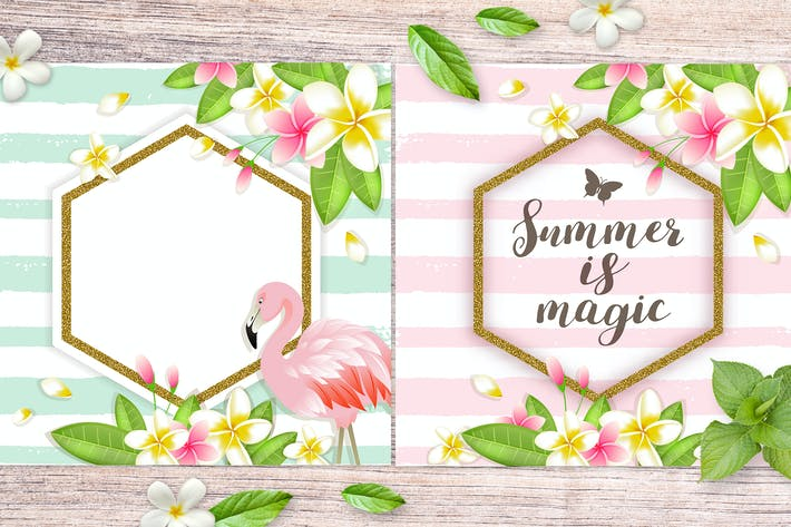 Thumbnail for Tropical Summer Backgrounds