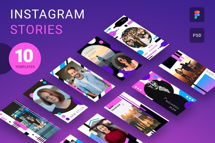 Thumbnail for Creative Instagram stories pack