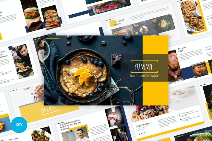 Thumbnail for Yummy - Food Keynote Template