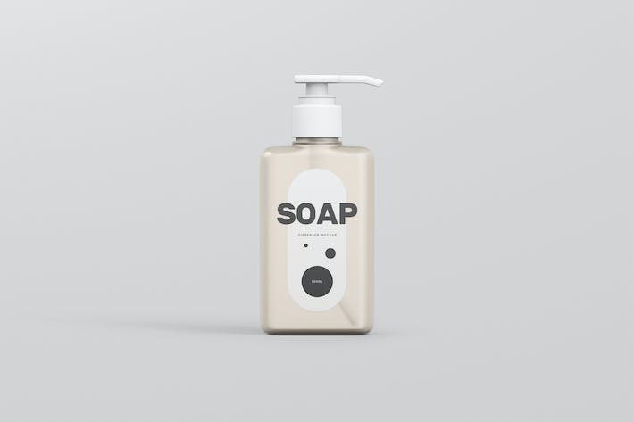 Thumbnail for Soap Dispenser Mockup Rectangle Small