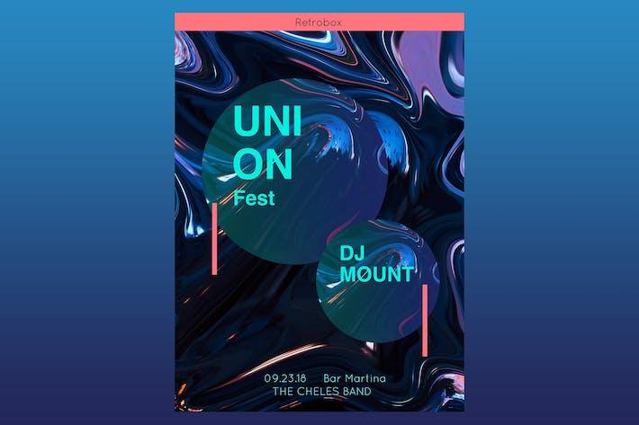 Thumbnail for Union Fest Flyer Poster