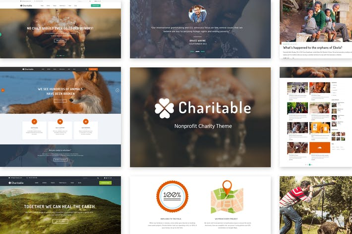 Thumbnail for Charitable - Nonprofit Organization PSD Theme