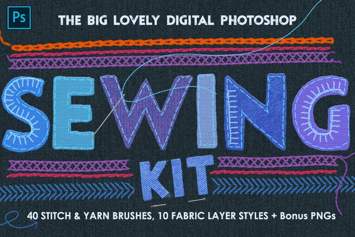Thumbnail for Sewing & Embroidery Photoshop Kit