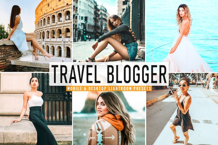 Thumbnail for Travel Blogger Mobile & Desktop Lightroom Presets