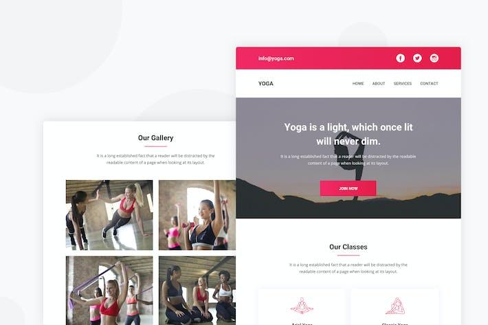 Thumbnail for Yoga Studio - Email Newsletter