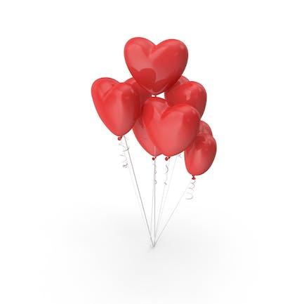 Herzförmige Luftballons