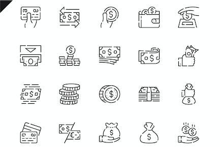 Simple Set Money Line Icons