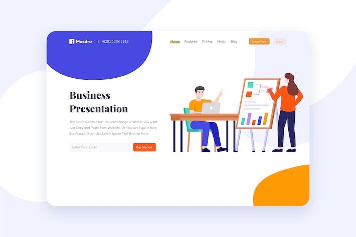 Thumbnail for Business Presentation Header Illustration