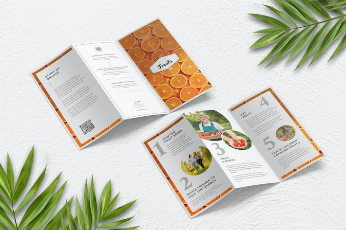 Thumbnail for Fresh Food and Fruit Trifold Brochure